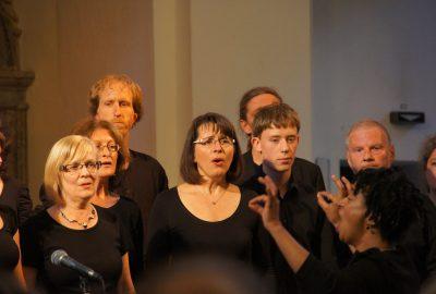 Gospel in Dresden mit Roy. Ombiono